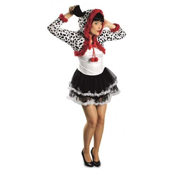 Dalmatier hond verkleed kostuum/jurk voor dames.