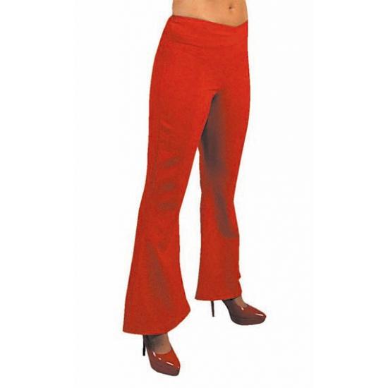 Dames hippie broek rood