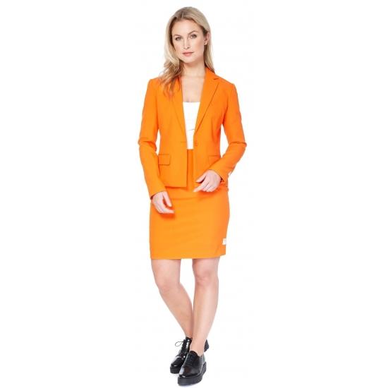 Dames mantelpakje oranje