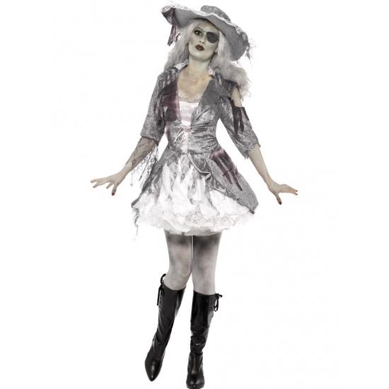 Dames spook piraat kostuum