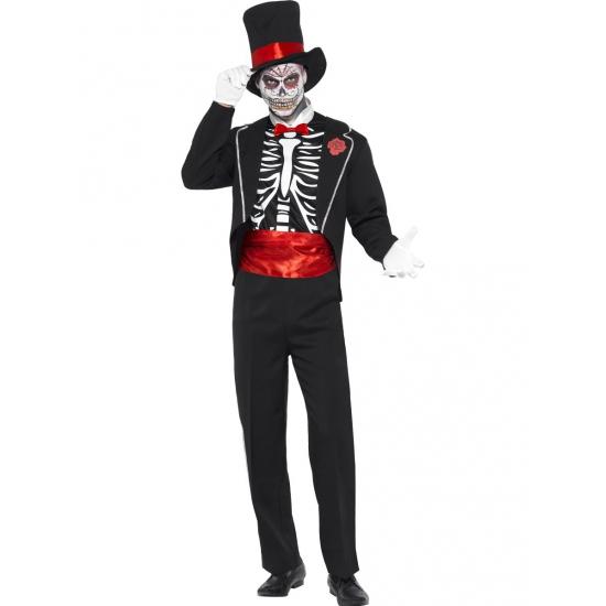 Day of the Dead heren kostuum bones