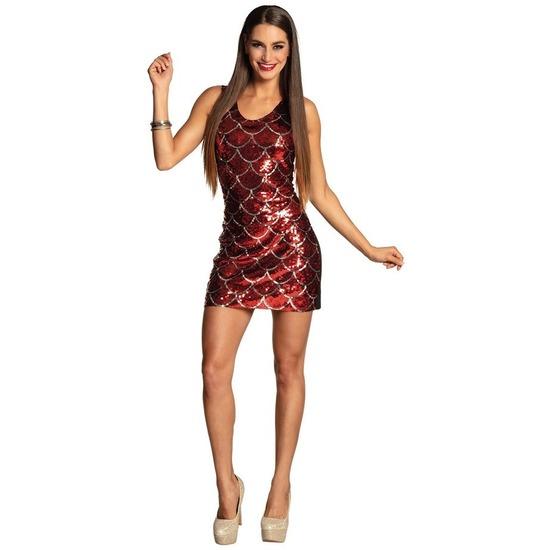 Dazzle jurkje rood met pailletten
