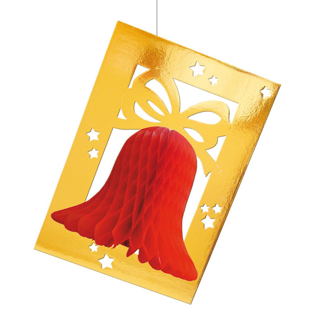 Decoratie kerstklok kader