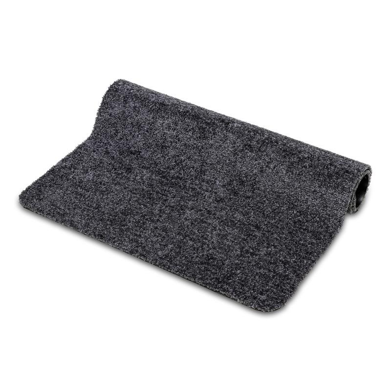 Deurmat/schoonloopmat Wash and Clean volcano grijs 60 x 80 cm