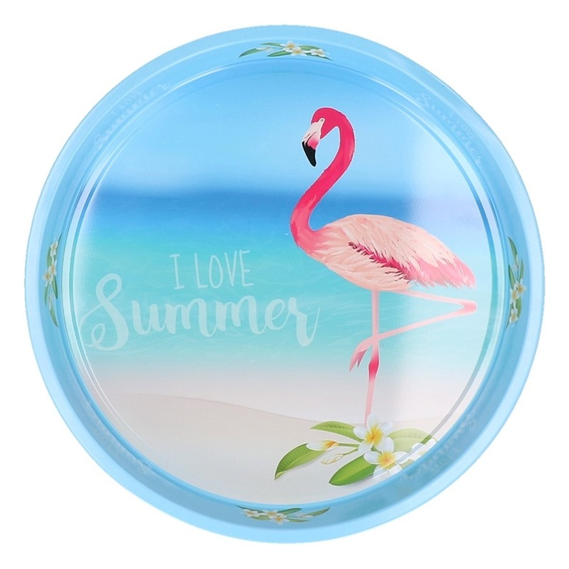 Dienblad Flamingo Beach 33 cm Multi