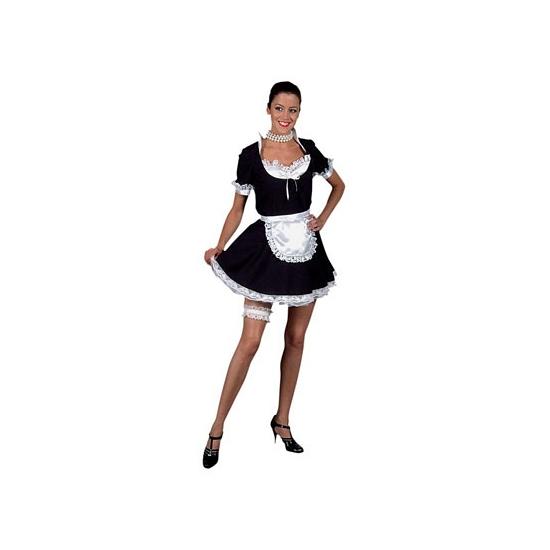 Dienstmeisje kostuum 36 (S) Zwart
