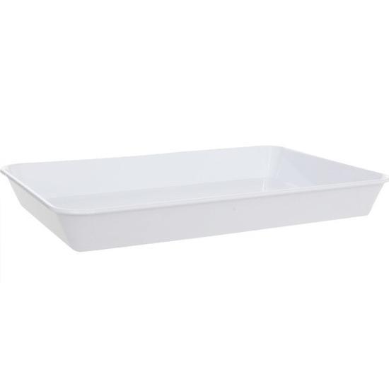 Diep dienblad wit kunststof 35 x 24 cm
