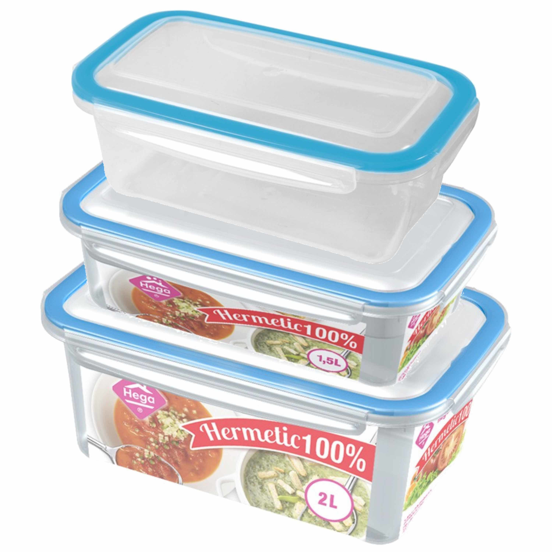 Diepvries/koelkast voedsel bewaarbakjes set van 12x stuks diverse formaten