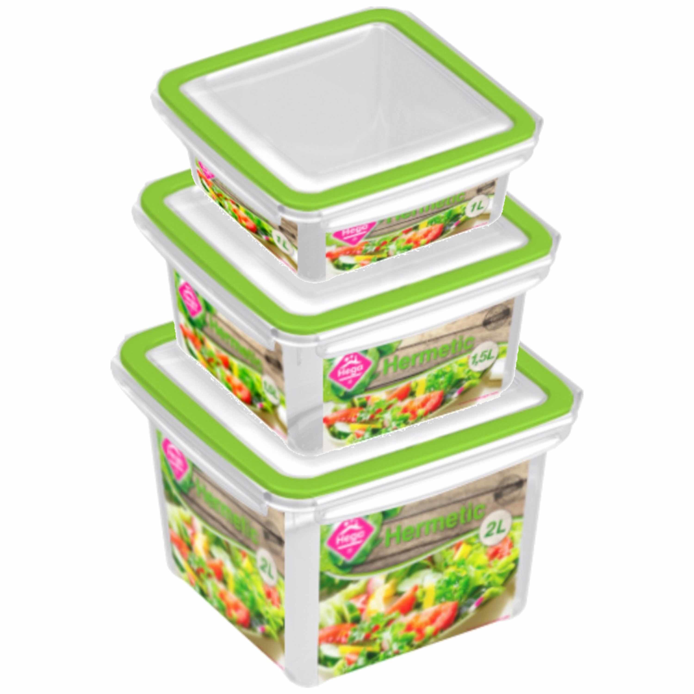 Diepvries/koelkast voedsel bewaarbakjes set van 6x stuks diverse formaten