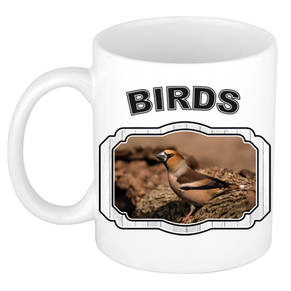 Dieren appelvink vogel beker - birds/ vogels mok wit 300 ml