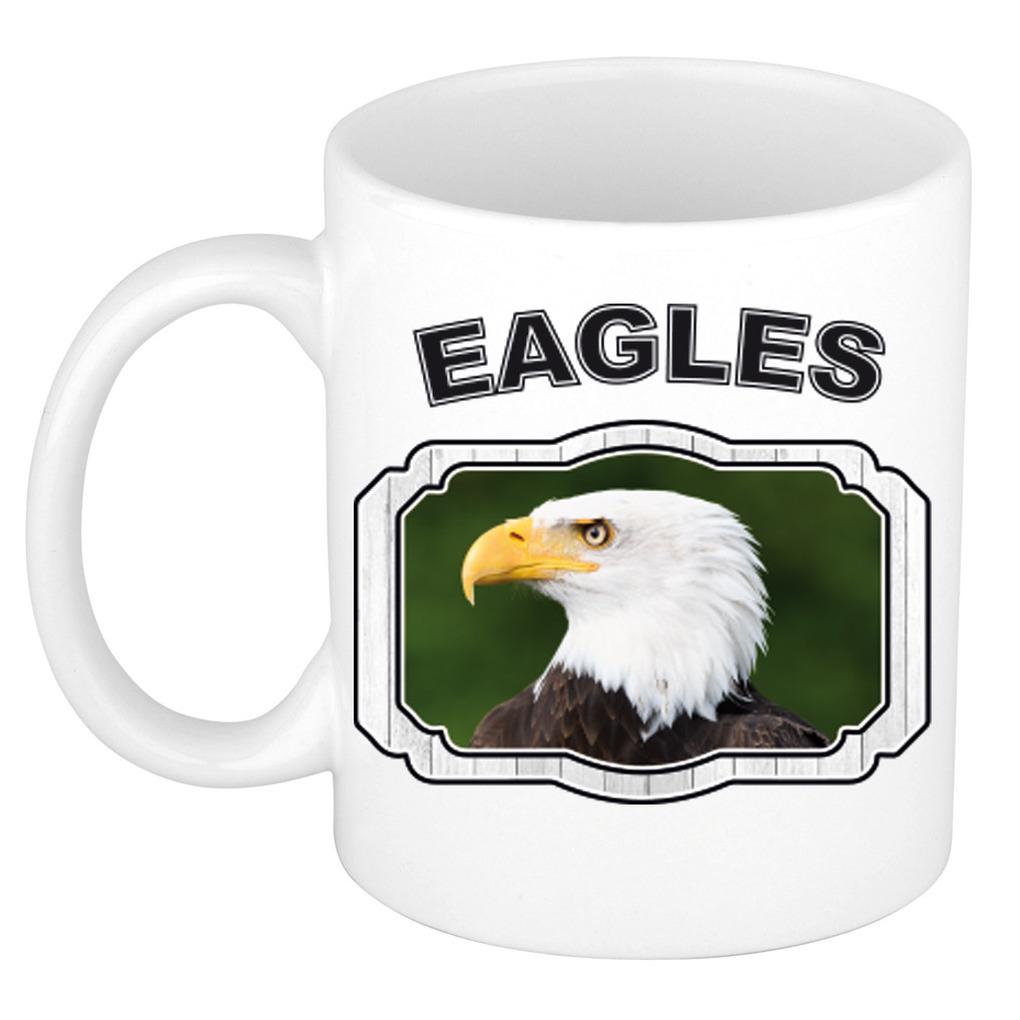 Dieren arend beker - eagles/ zeearenden mok wit 300 ml