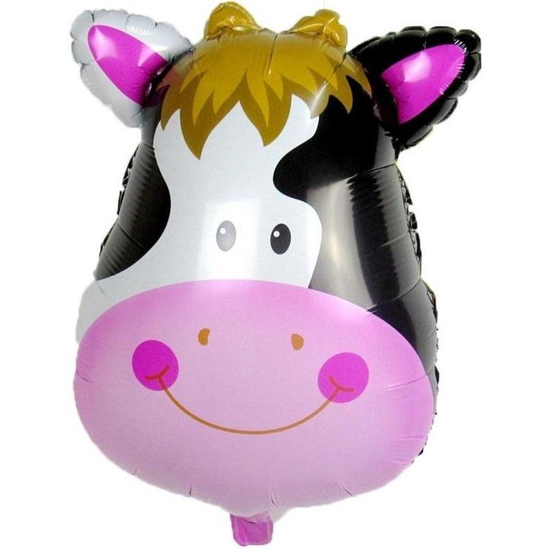 Dieren folieballon koe/koeien 42 cm