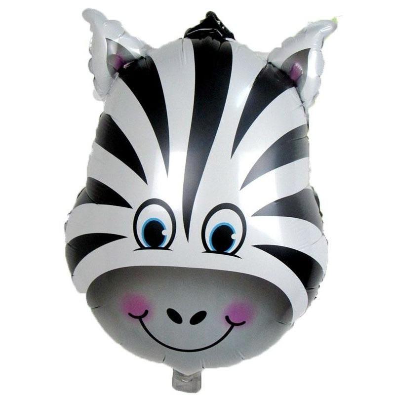 Dieren folieballon zebra 41 cm