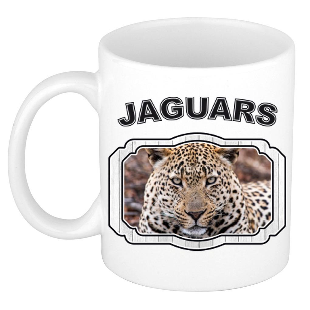 Dieren gevlekte jaguar beker - jaguars/ jaguars mok wit 300 ml