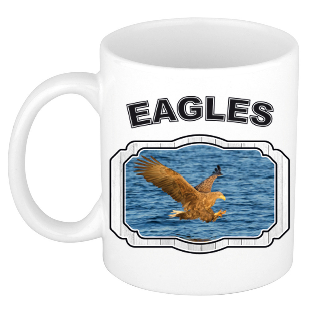 Dieren zeearend beker - eagles/ arenden mok wit 300 ml