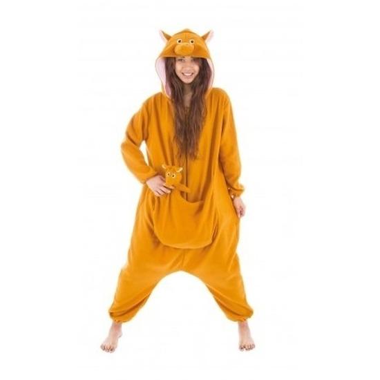 Dierenpak kangoeroe onesie verkleed kostuum voor dames