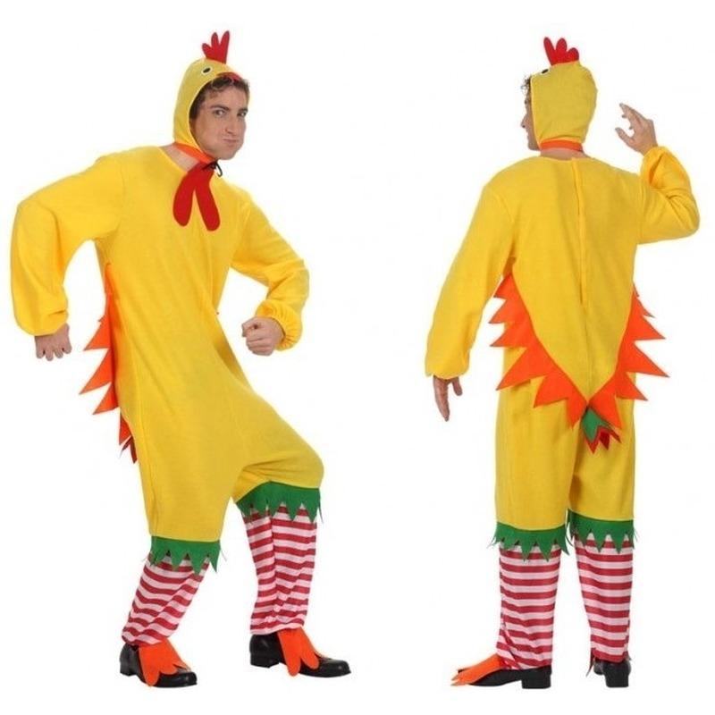 Dierenpak kip/haan/kuiken verkleed kostuum voor volwassenen