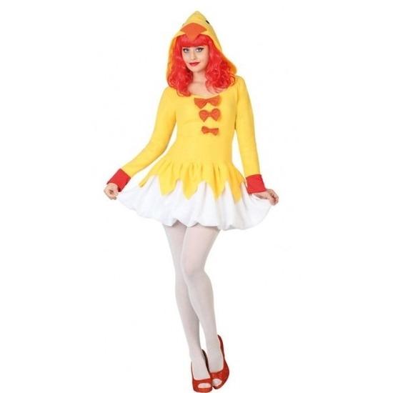 Dierenpak kip/kuiken verkleed jurk/kostuum voor dames