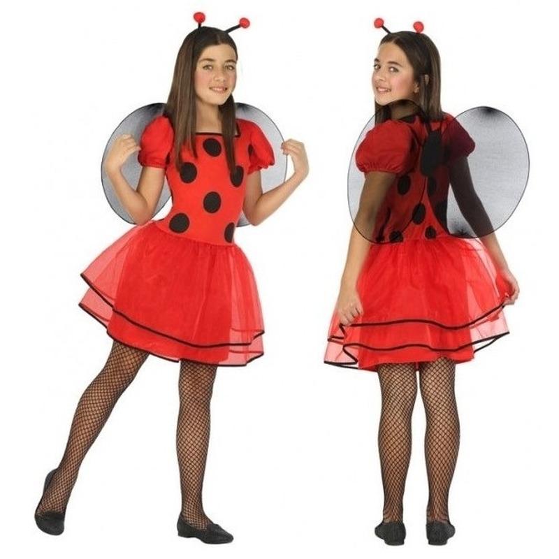 Dierenpak lieveheersbeestje verkleed jurk/jurkje voor meisjes