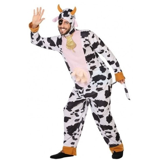 Dierenpak verkleed kostuum koe voor volwassenen