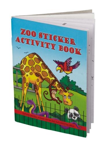 Dierentuin mini kleurboek met stickers 10 x 15 cm