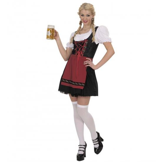 Dirndl oktoberfest jurk voor dames zwart 36 (S) - Carnavalsjurken