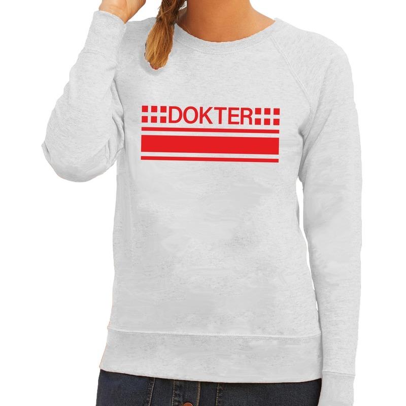 Dokter logo sweater grijs voor dames