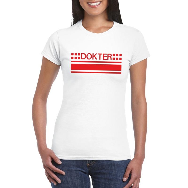 Dokter logo t-shirt wit voor dames