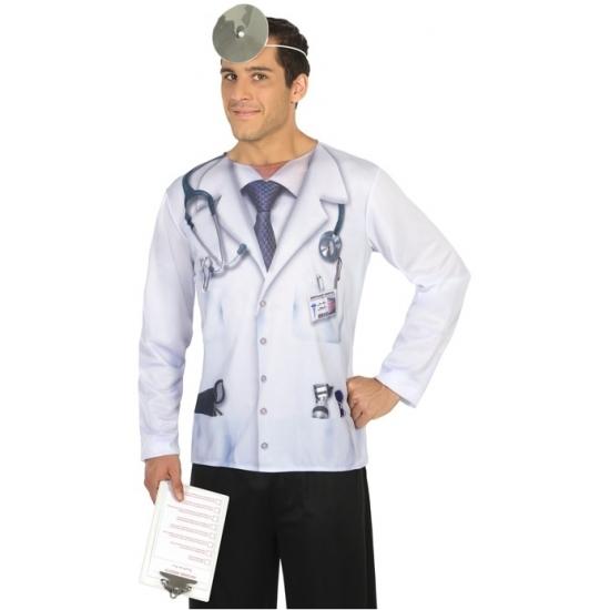 Dokter verkleed shirt voor heren