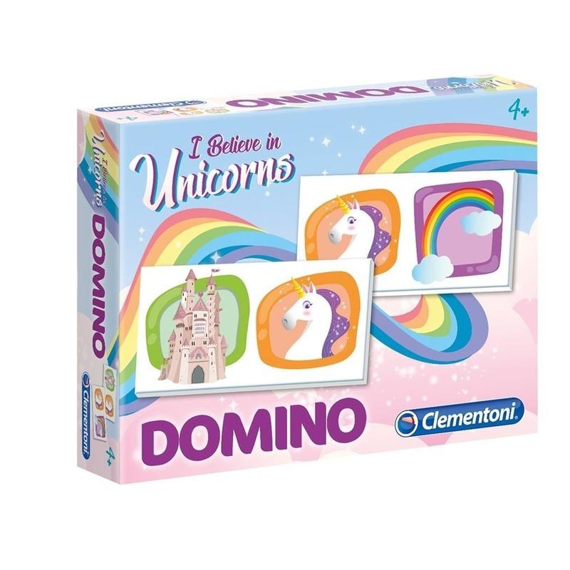 Domino spel eenhoorn voor kinderen