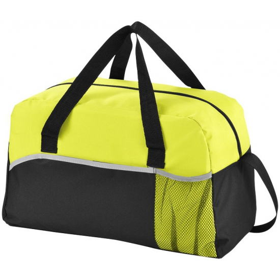 8e0fcf599d2 Duffeltas zwart met groen - Sport tassen - Bellatio warenhuis