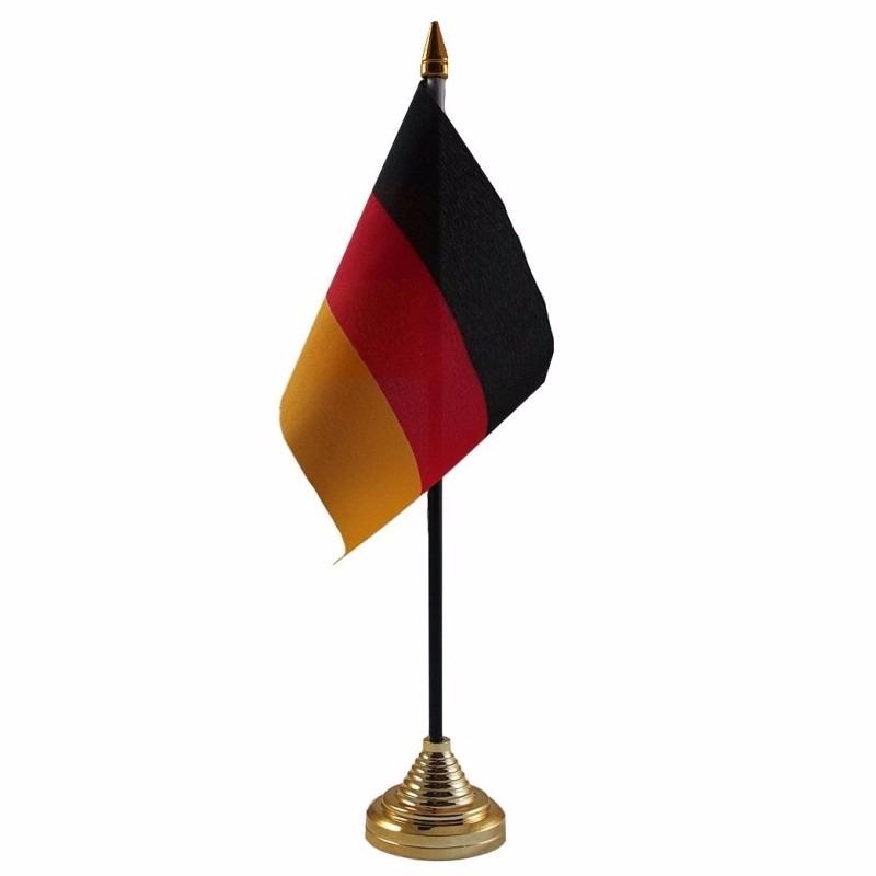 Duitsland tafelvlaggetje 10 x 15 cm met standaard