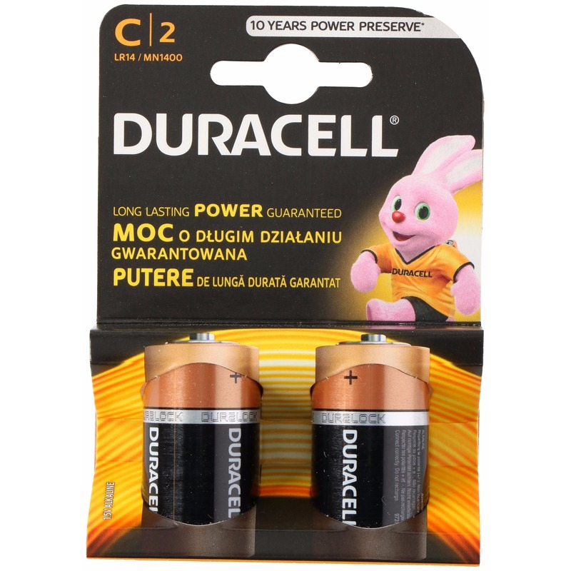 Duracell batterijen CR/LR14 2 stuks