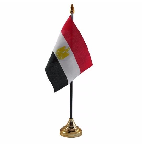 Egypte tafelvlaggetje 10 x 15 cm met standaard