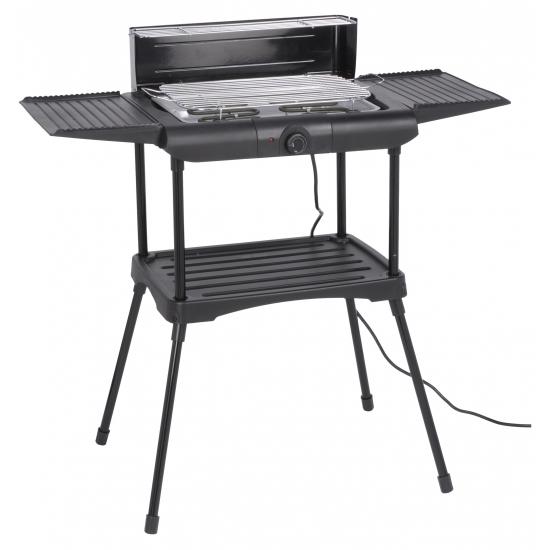 Elektrische barbecue / bbq staand 51 cm Zwart