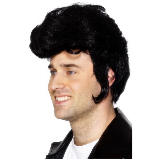 Elvis pruik zwart
