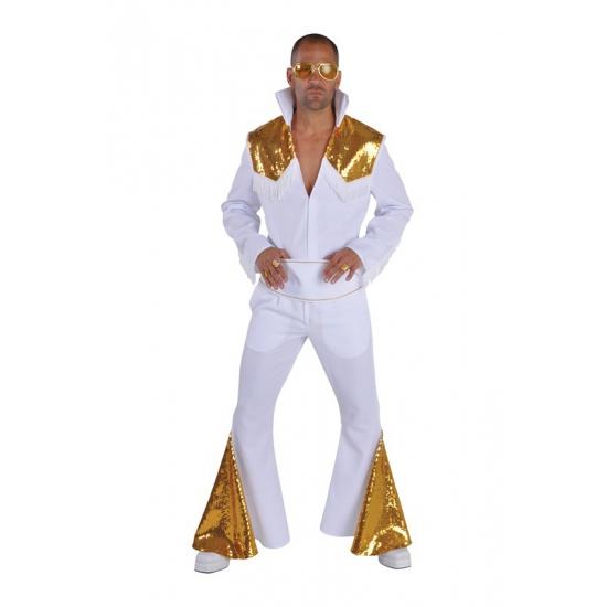 Elvis Vegas kostuum wit/goud