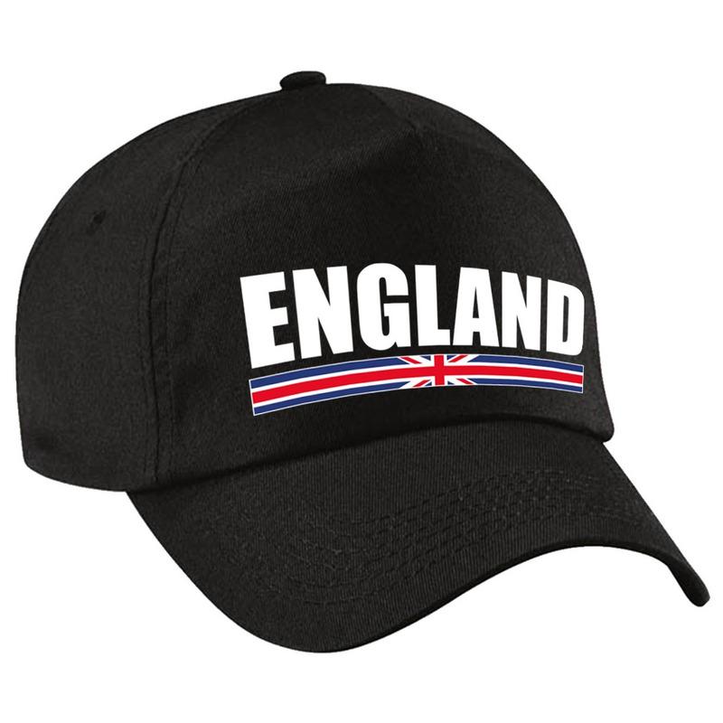 England supporter pet - cap Engeland zwart volwassenen