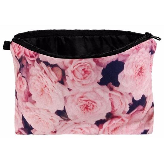 Etui met rozen design 20 x 14 cm Roze