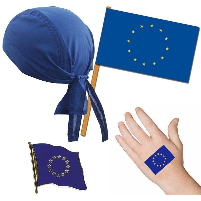Europa/Europees thema verkleed set voor volwassenen