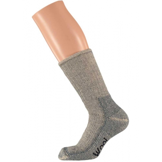 Extra warme grijze sokken maat 45/47 Grijs