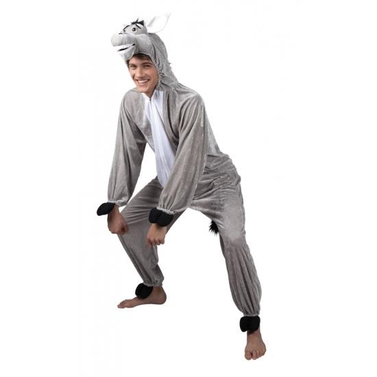 Ezel dieren kostuum voor heren