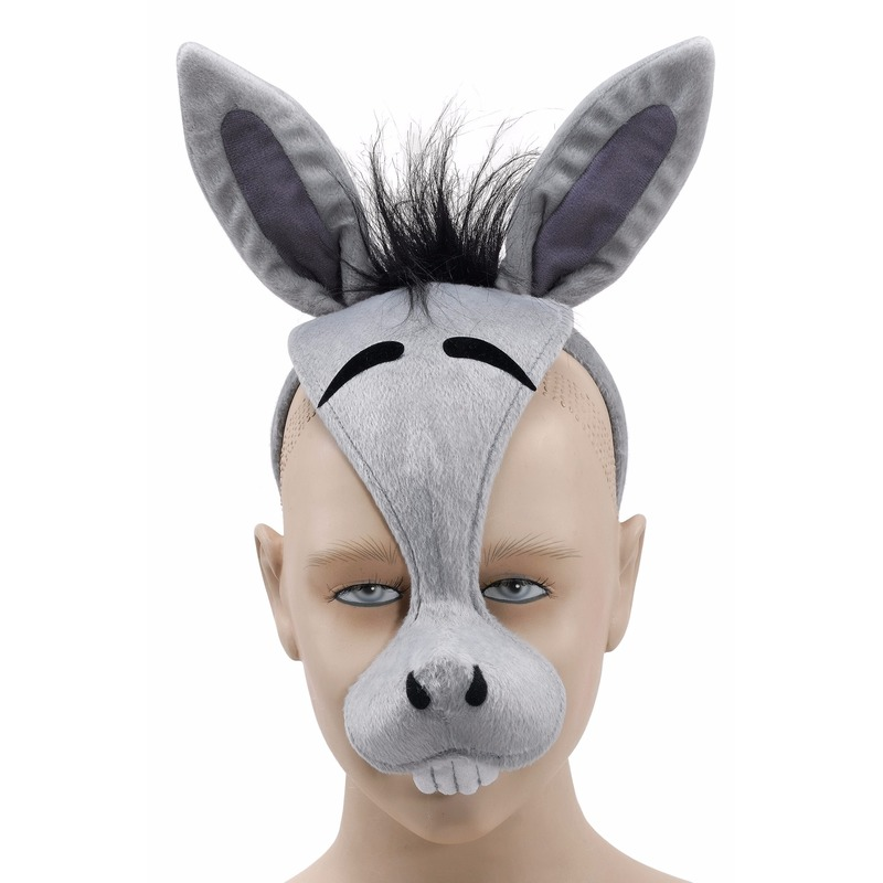 Ezels diadeem masker met geluid