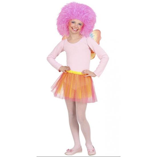 Fee set voor kinderen oranje/roze