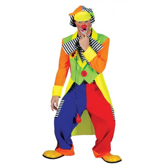 Fel gekleurd clowns kostuum
