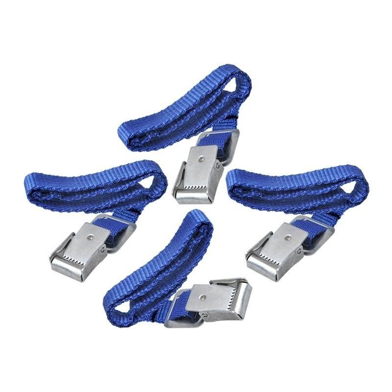 Fiets spanbanden met metalen gesp voor fietsdrager 8 stuks