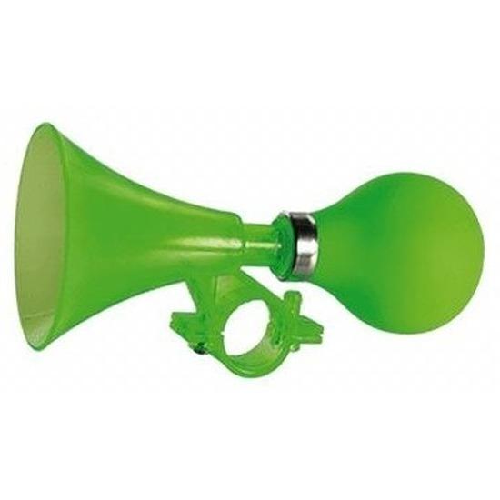 Fiets toeter groen 15 cm