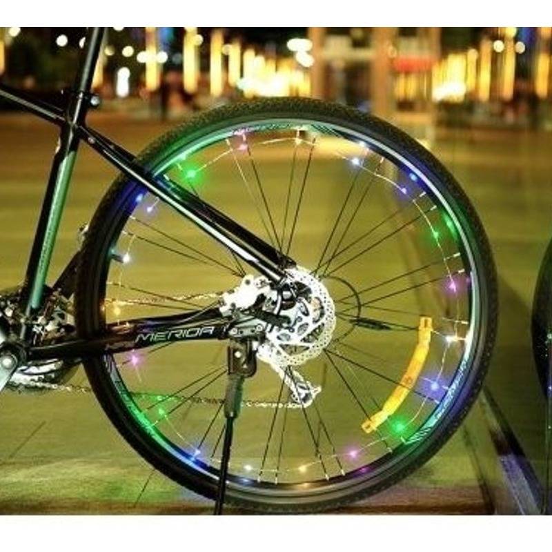 Fietsverlichting wieldecoratie LED lichtslang