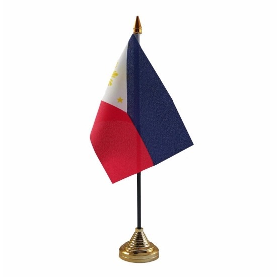 Filipijnen tafelvlaggetje 10 x 15 cm met standaard