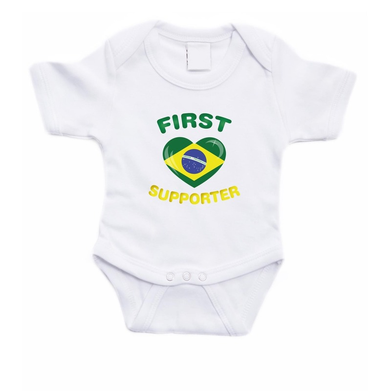 First Brazilie supporter rompertje baby